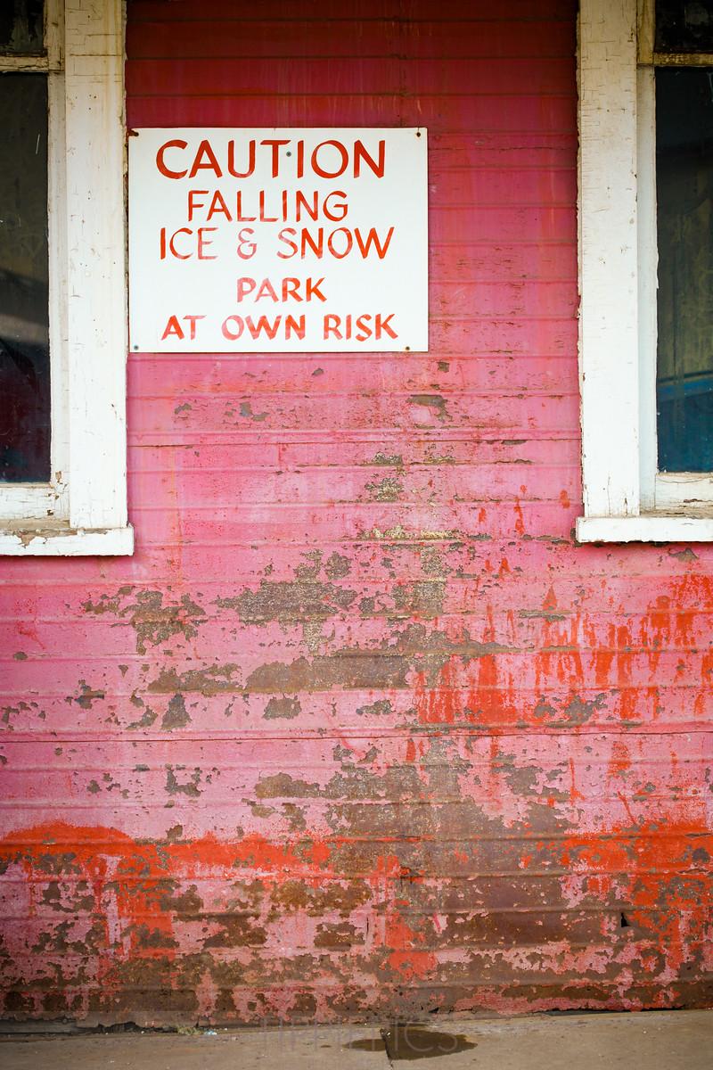 Caution: Falling Ice